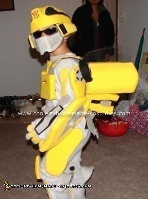 Homemade Bumble Bee Transformer Costume