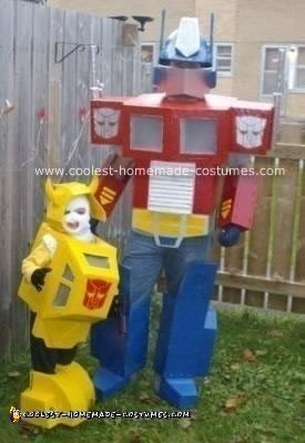 Homemade Bumblebee and Optimus Prime Costume