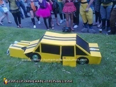 Homemade Bumblebee Transformer Autobot Costume