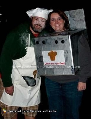 Homemade Bun in the Oven Pregnant Couple Costume