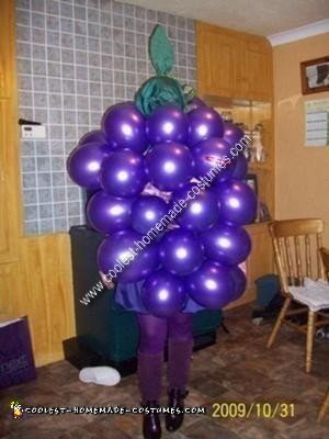 Homemade Bunch of Grapes Costume Idea