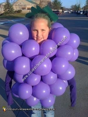 Coolest Homemade Bunch of Grapes Halloween Costume
