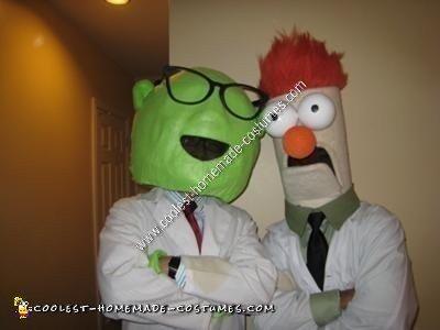 Homemade Bunsen Honeydew and Beaker Couple Halloween Costumes