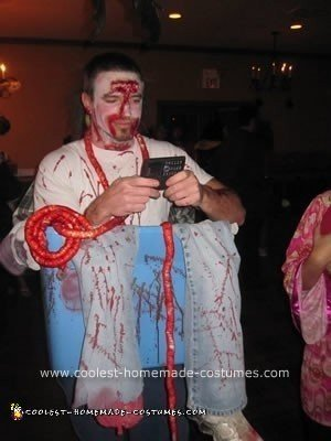 Homemade Butcher Optical Illusion Halloween Costume Idea