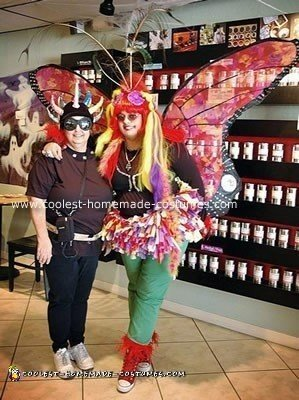 Homemade Butterfly and Alien Costumes