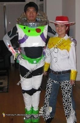 Homemade Buzz Lightyear and Jessie the Cowgirl Halloween Costume