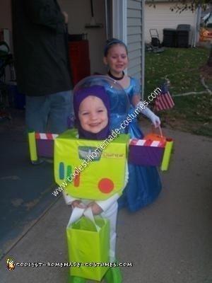 Homemade Buzz Lightyear Toddler Costume