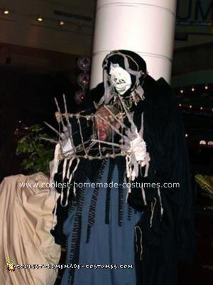 Homemade Caged Head Halloween Costume