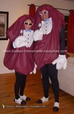 Homemade California Raisins Halloween Costumes
