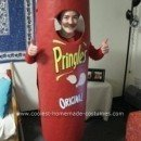 Homemade Can of Pringles Costume