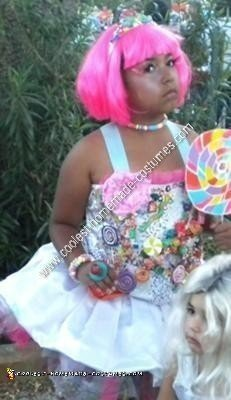 Homemade Candy Princess Halloween Costume Idea