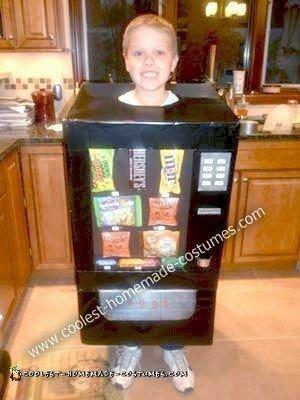 Homemade Candy Vending Machine Costume