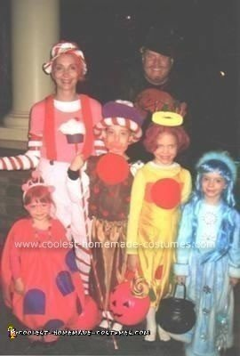 Homemade Candyland Characters Group Costume