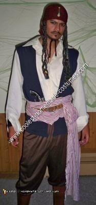 Homemade Captain Jack Sparrow Halloween Costume Idea