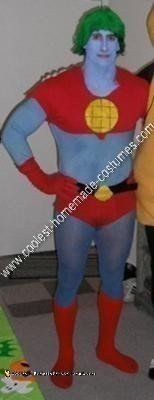Homemade Captain Planet Halloween Costume Idea