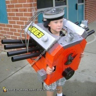 Homemade Car Engine Costume