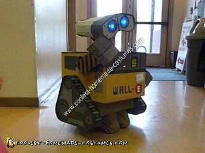 Homemade Cardboard Wall E Halloween Costume Idea