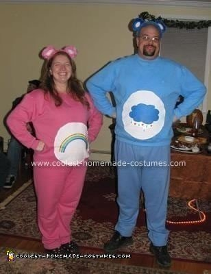 Homemade Care Bear Couple Costume