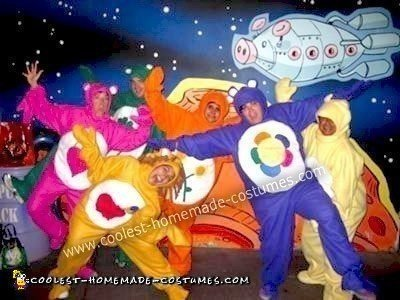 Homemade Care Bears in Space Group Costume