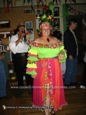 Homemade Carmen Miranda Halloween Costume