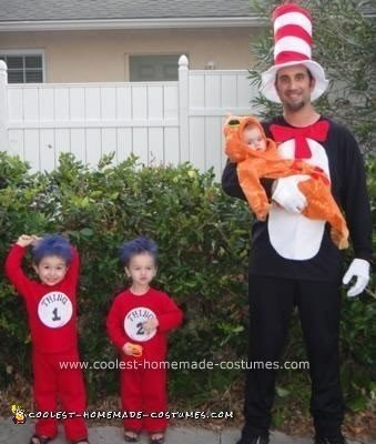 Homemade Cat in the Hat Family Costume Idea