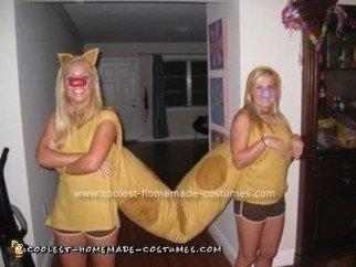 Homemade Catdog Costume