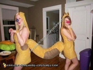 Homemade Catdog Couples Halloween Costume