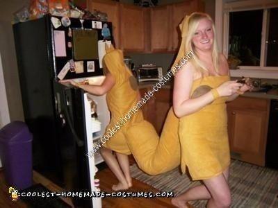 HomemadHomemade Catdog Couples Halloween Costume