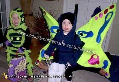 Homemade Caterpillar and Butterfly Costumes