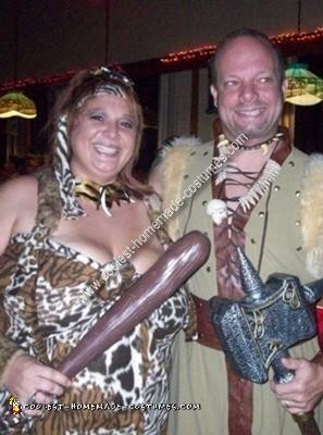 Homemade Cavewoman Costume