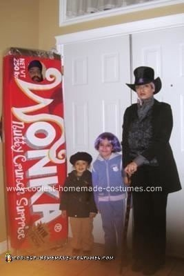 Homemade Charlie and the Chocolate Factory Family Costume