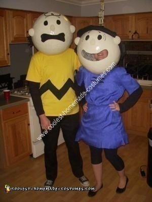 Homemade Charlie Brown and Lucy Couple Costume