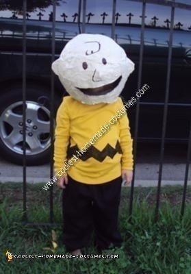 homemade charlie brown halloween costume idea