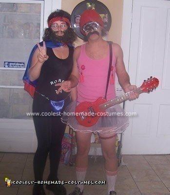 Homemade Cheech and Chong Couple Costume