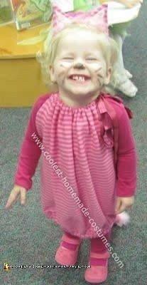 Homemade Cheshire Cat Halloween Toddler Costume