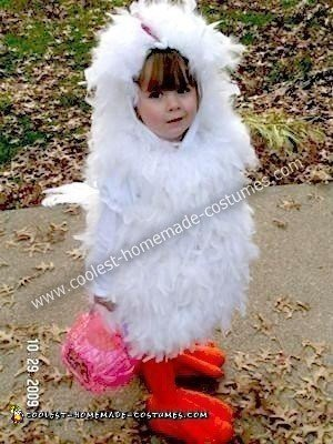 Homemade Chicken Halloween Costume