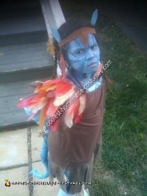Homemade Childs Avatar Na'vi Costume