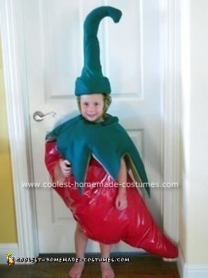 Homemade Chili Pepper Halloween Costume