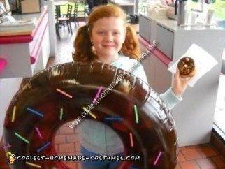 Homemade Chocolate Donut Costume