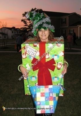 Homemade Christmas Present Under the Tree Costume