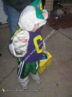 Homemade Chuck E. Cheese Toddler Costume Idea