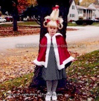 Cute Homemade Cindy Lou Who Costume