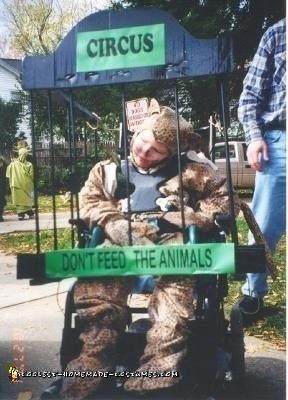 Homemade Circus Animal in a Cage Wheelchair Costume