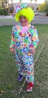 Homemade Circus Clown Costume