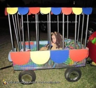 Homemade Circus Lion in a Cage Costume