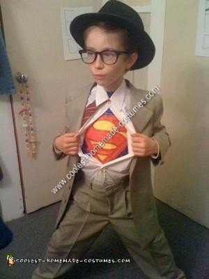Homemade Clark Kent Boy's Halloween Costume Idea
