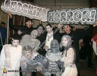 Homemade Classic Movie Monsters Group Halloween Costumes