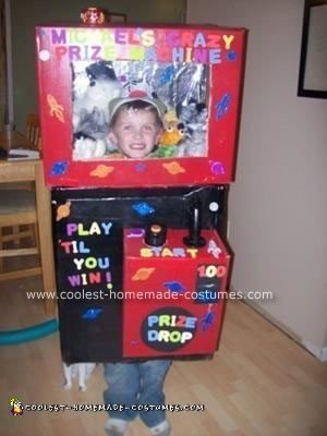Homemade Claw Machine Halloween Costume