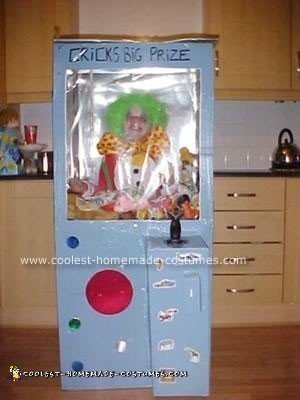 Here's another good Halloween costume, a Homemade Claw Machine Halloween Costume which is fun and easy to make.