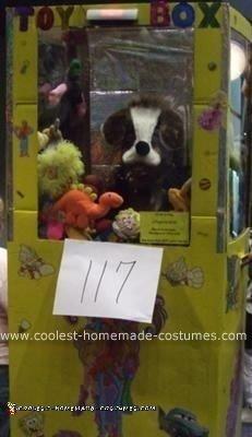 Homemade Claw Vending Machine Costume